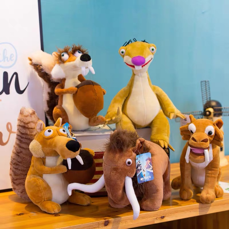 Ice Age 3 Sid Animal Doll SCRAT Squirrel Stuffed Plush Toy Gift Squirrel Stuffed Dinosaurs Prop Christmas Gift  Plush Toys