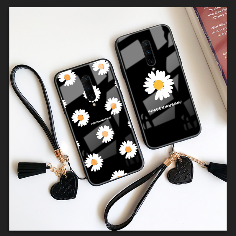 Strap & <font><b>Case</b></font> For <font><b>oppo</b></font> A9 2020 A5 A3 A5S <font><b>A3S</b></font> A7 2018 A11 A11X Peaceminusone Daisy Fashion Hard <font><b>Glass</b></font> Cover For <font><b>OPPO</b></font> A9 A5 2020 image