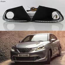 Light Led Drl Suzuki Baleno Fog-Lamp-Cover Daytime 1set CSCSNL for with Turn-Yellow Signal