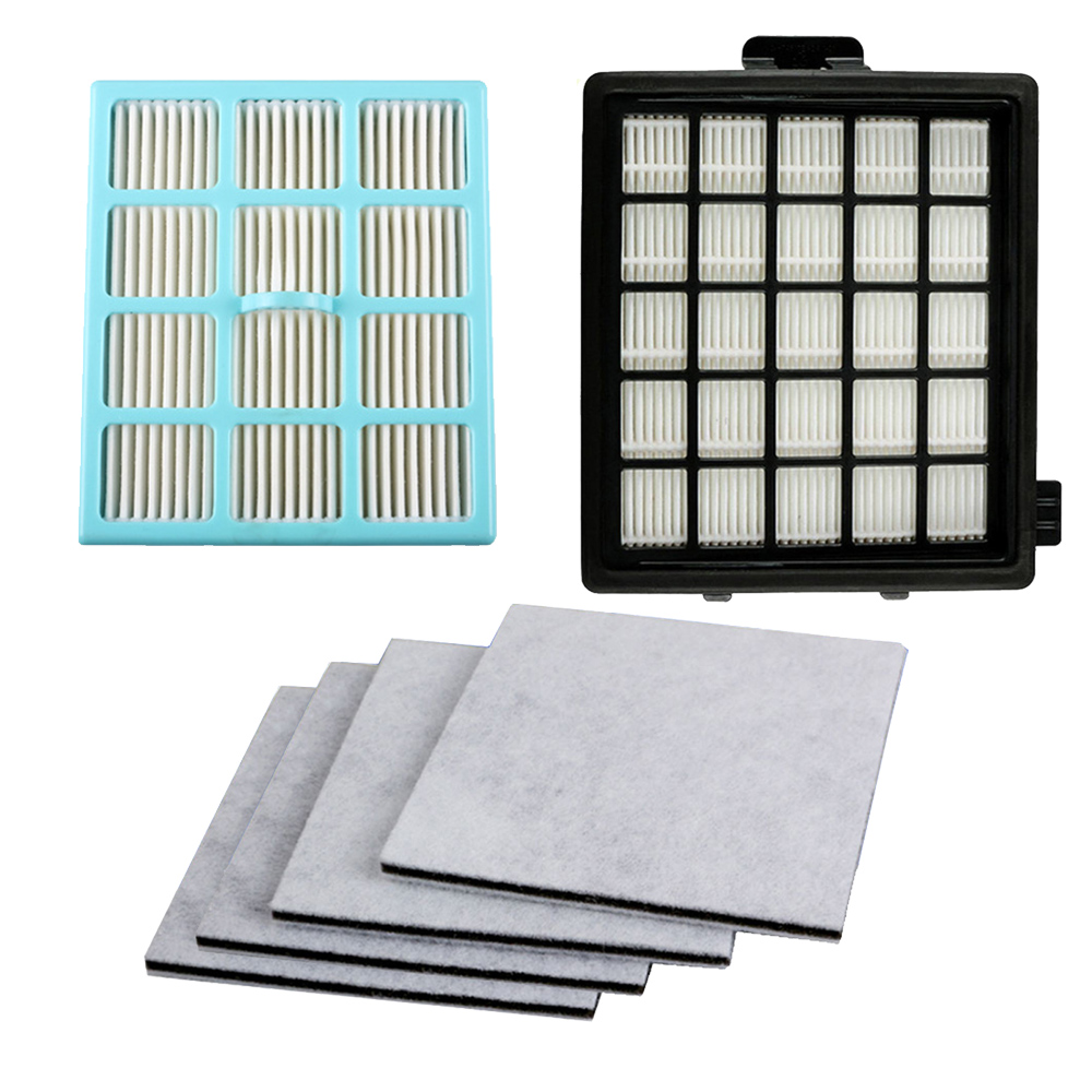 High Quality 2pcs Hepa Filter & 4pcs Motor Cotton Filter For Philips FC8134 FC8135 FC8136 FC8142 FC8146 FC8148 FC8140 FC8144