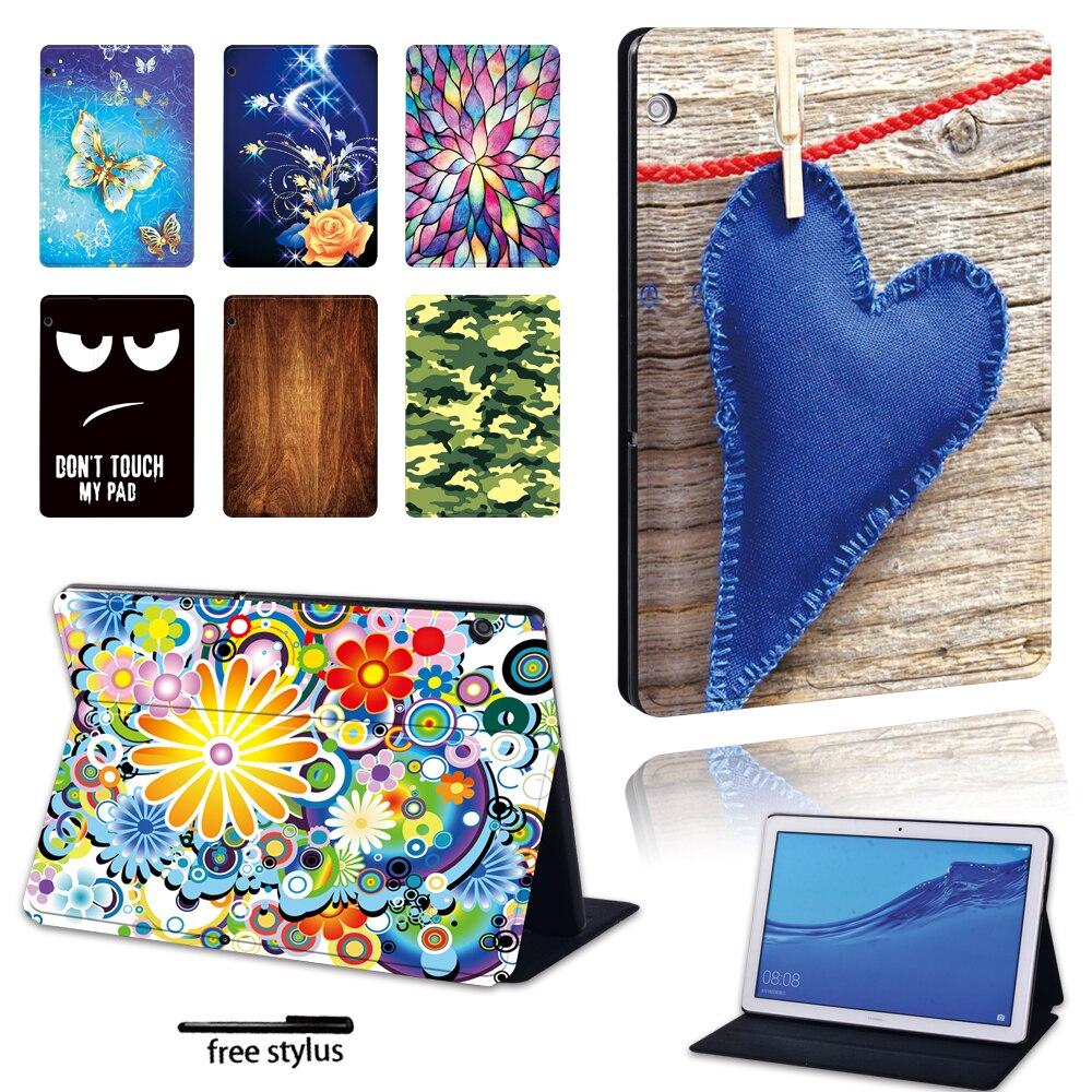 Чехол-подставка для Huawei MediaPad T3 8,0/T3 10 9,6/T5 10 10,1/M5 Lite 10,1/M5 10,8 дюйма, из ПУ кожи