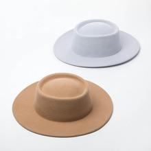 01907 HH8124 영국 스타일 겨울 양모 리본 다른 색상 fedoras 모자 남자 여자 양모 모자