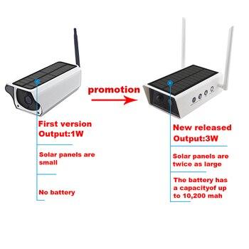 Wireless Solar Camera 1080P Security Surveillance Camera Waterproof IR Night Vision Support TF card 10200MAh P2P cloud Use 2