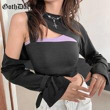 Женский свитшот с длинным рукавом gtoh черный облегающий пуловер