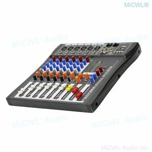 Image 3 - Marke Neue 6 Kanal Audio Mixer Sound Mischpult mit Bluetooth 48V Phantom USB 3 Marke EQ wirkung