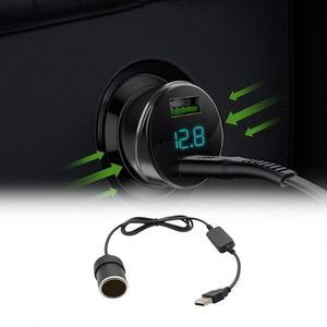 1 шт., 5 В, 2 А, USB в 12 В, 8 Вт, гнездо для прикуривателя, USB папа-Мама, адаптер для прикуривателя, конвертер