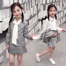 Girl Clothing Set Spring Autumn Girls' College Style Three-Piece Set suit + skirt +shirt Girls Three-Piece Set girls clothes set
