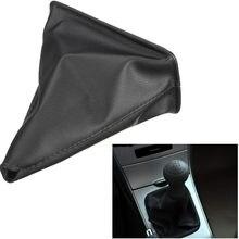 Capa preta da bota da calha do deslocamento da vara de engrenagem do couro do plutônio para colares do deslocamento de engrenagem de toyota corolla 1998-2009