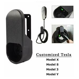 Image 2 - Para o modelo 3 cabo de carregamento do carro organizador para tesla modelo 3 s x y acessórios montagem na parede conector suporte carregador titular