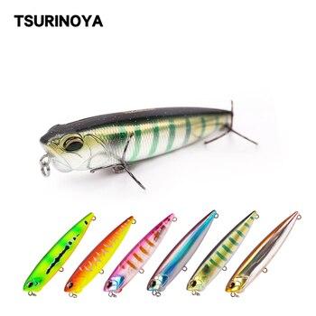 TSURINOYA Topwater Pencil Fishing Lure DW59 85mm 10.5g Long Casting Trolling Lure Minnow Crankbait Whopper Wobblers Hard Bait