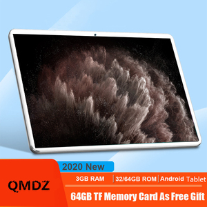 10.1 Inch Android Tablet Pc Octa Core MT6753 32GB+64GB 4G Lte Tab Wifi GPS Bluetooth Android 8MP 1920x1200 IPS