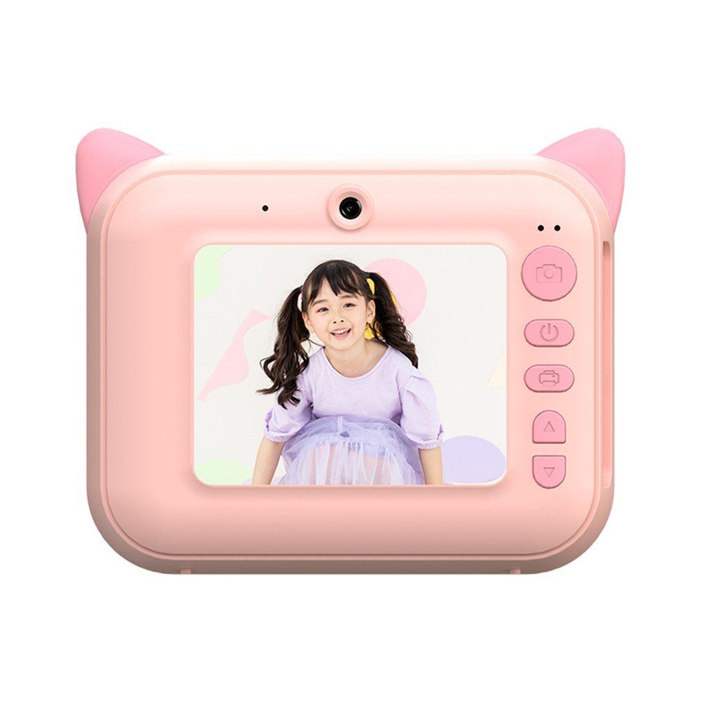 Children Camera Instant Print Camera Gifts 2.4inch 1080p Kids Digital Camera For Kids Best Gift Birthday Gifts For Girl Boy Excellent In Cushion Effect