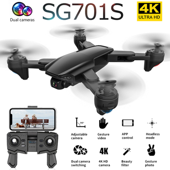 2020 New SG701 SG701S GPS Drone With 4K HD Dual Camera 5G WiFi FPV Wide Angle Professional RC Quadcopter Helicopter Toy SG907 F3