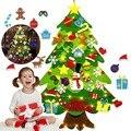 Войлочная Рождественская елка, войлочная елка «сделай сам», войлочные елочные украшения с гирляндой, рождественские подарки, новый год, Рож...