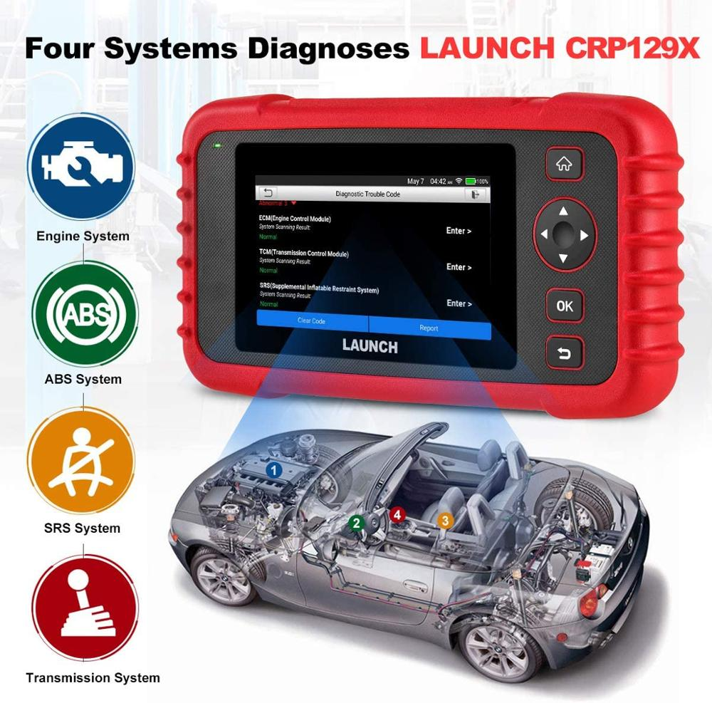 LAUNCH CRP129X OBD2 Scan Tool Android Based OBD2 Scanner 4 System Diagnoses Oil Reset EPB SAS TPMS Automotive Tool PK CRP129E