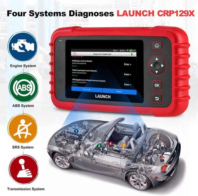 LAUNCH – outil de diagnostic automobile CRP129X, Scanner OBD2, Android, 4, réinitialisation de lhuile, EPB/SAS/TPMS