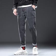 Racer Biker Jeans Elastic Cotton Stretch Jeans Pants Men Runway Slim Classical solid color Straight Leg Loose Fit Denim Trousers