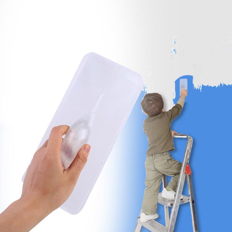 Painter Plaster Trowel Plastic Transparent Good Adsorption Wall Decorative Painting Brush Home Improvement Accessories