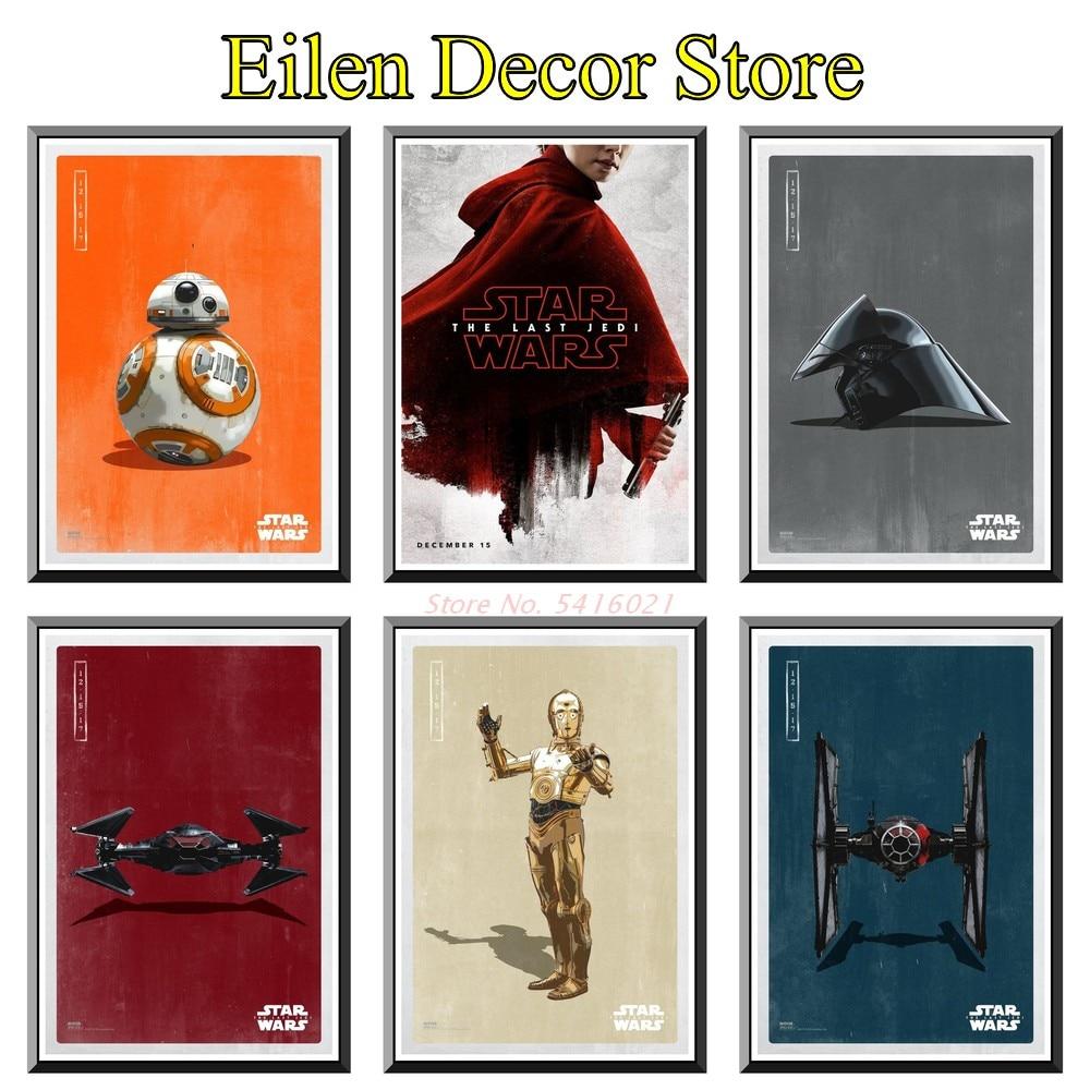 Star Wars: The Last Jedi Movie Poster Art Prints Home Decoration Wall Poster Kraft Paper Print Posters & Prints 42X30cm