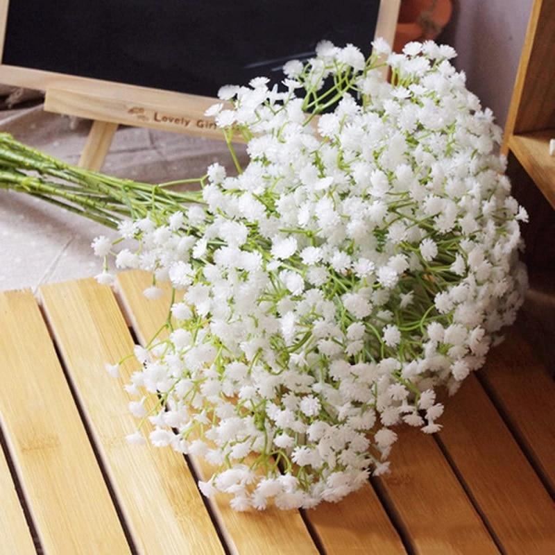 90 köpfe 52cm Babys Atem Künstliche Blumen Kunststoff Gypsophila DIY Blumen Bouquets Anordnung für Hochzeit Hause Dekoration