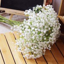 90 cabeças 52cm flores artificiais de respiração, plástico gypsophila diy, buquês florais arranjo para casamento, decoração de casa