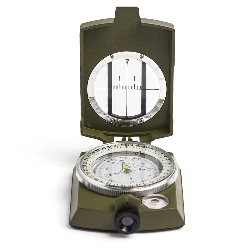 Portable Folding Lens Compass (Military) Multifunction Compass Boat Compass Fluorescent Dashboard Dash Mount Outdoor Tools
