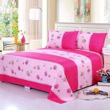 3 Pcs Bed Set Bedsheets Queen King Twin Size Flat Sheet 1 Pc Bed Sheet + 2 PillowcaseBed Linen Fitted Sheet