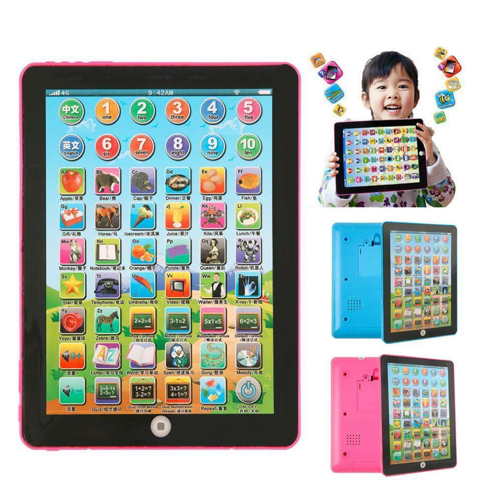 Mini Laptop Learning Tablet Toy Pad Children Kids Educational Learning Machine Toy Kid Baby Interactive Gift Math Study Tablet image