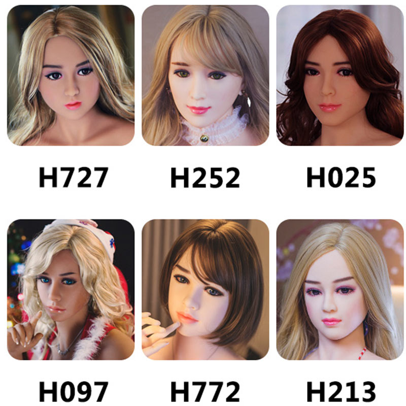 Hanidoll Real Silicone <font><b>sex</b></font> <font><b>dolls</b></font> <font><b>Head</b></font> for <font><b>sex</b></font> <font><b>doll</b></font> height 100-170cm image