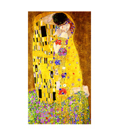 100x180CM frame Classic Artist Gustav Klimt kiss Abstract Oil Painting on Canvas Print Poster Art Wall Pictures For Living Room