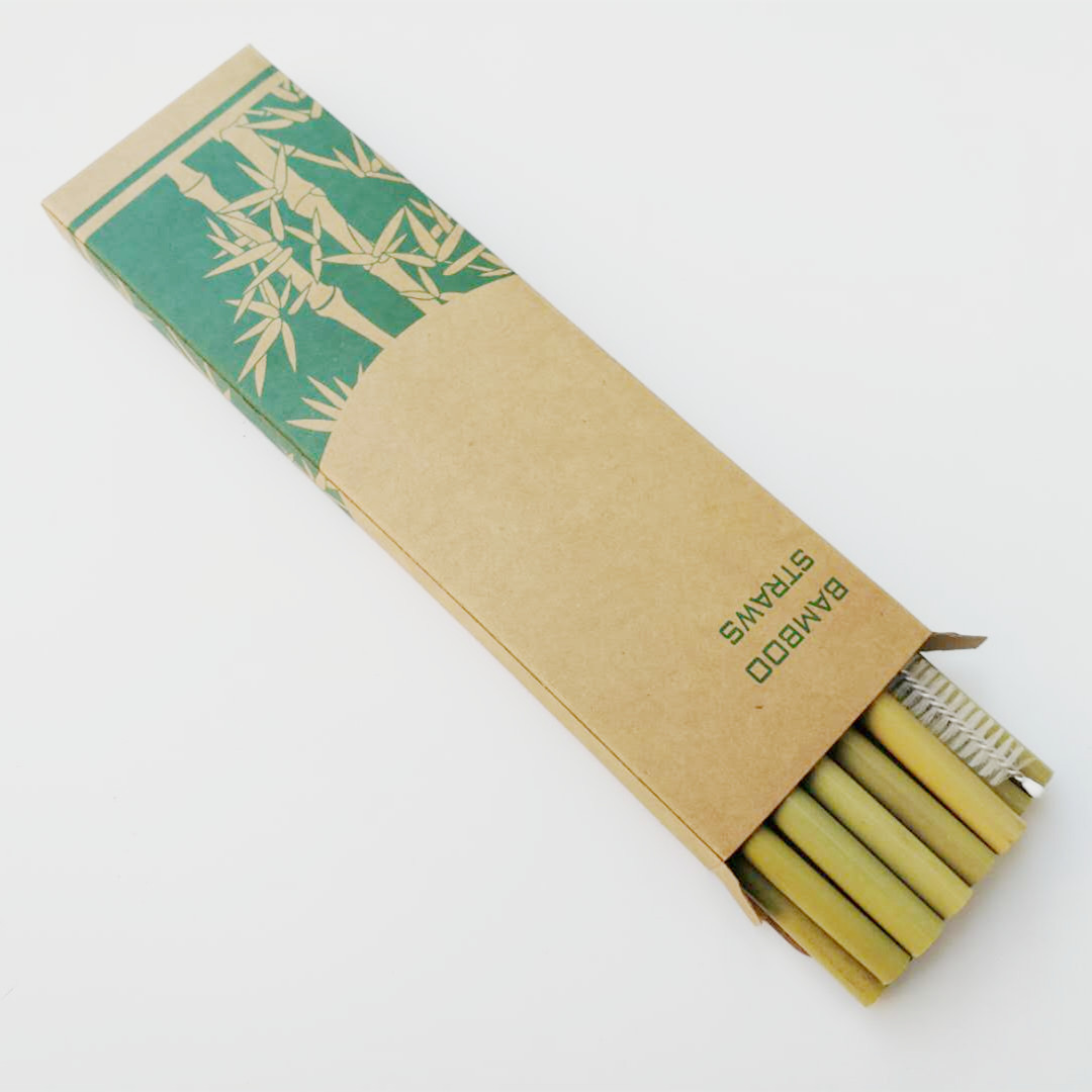 Image 3 - 12pcs Drinking Straws Green Reusable Bamboo Straws with Eco Friendly Bamboo Straw Brush Decoration Gift Party Bar Accessories-in Drinking Straws from Home & Garden