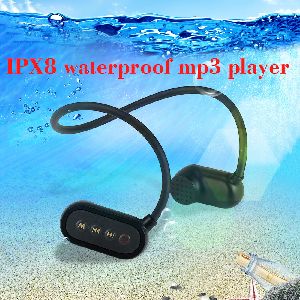 Newest IPX8 ip68 Bone Conductio Waterproof Swimming headphone Bluetooth MP3 Player Outdoor Sport Music Player MP3 Hearing aids