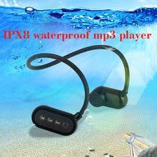 Newest IPX8 ip68 Bone Conductio Waterproof Swimming headphone Bluetooth MP3