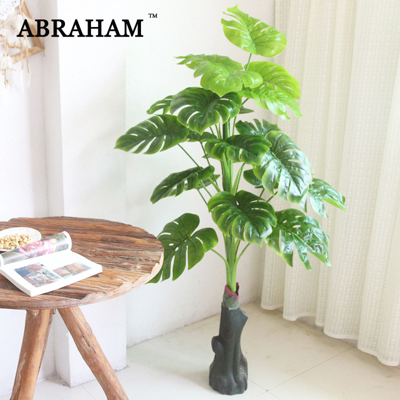 140cm Tropical Monstera Large Artificial Tree Fake Plants Plastic Leaves Green Turtle Leafs Indoor Tree For Home Wedding Decor Artificial Plants Aliexpress