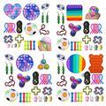 Игрушки-антистресс набор эластичных струн Pop It Popit Подарочный пакет для взрослых и детей сжимаемые сенсорные антистрессовые игрушки