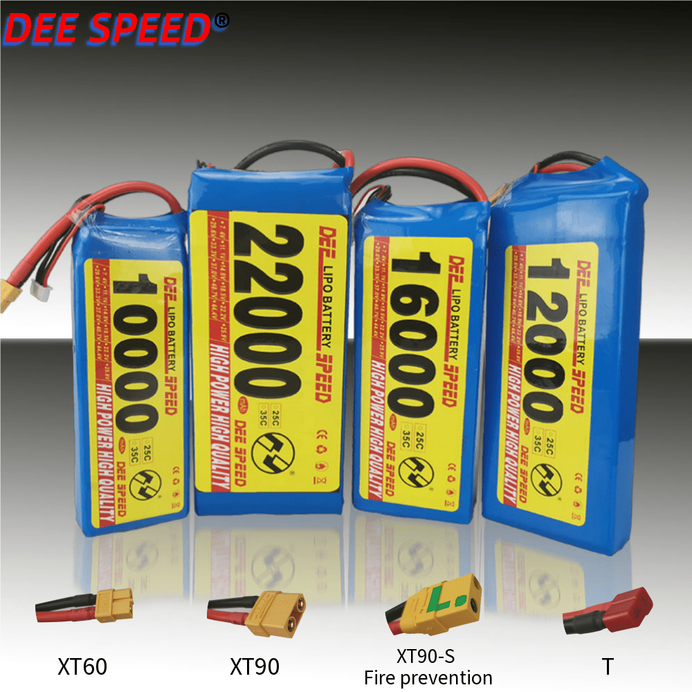 4S 14.8V <font><b>LiPo</b></font> Battery 10000mAh <font><b>12000mAh</b></font> 16000mAh 22000mAh 25C 35C for RC Toys aircraft quadrotor drone <font><b>lipo</b></font> battery XT60-T Plug image