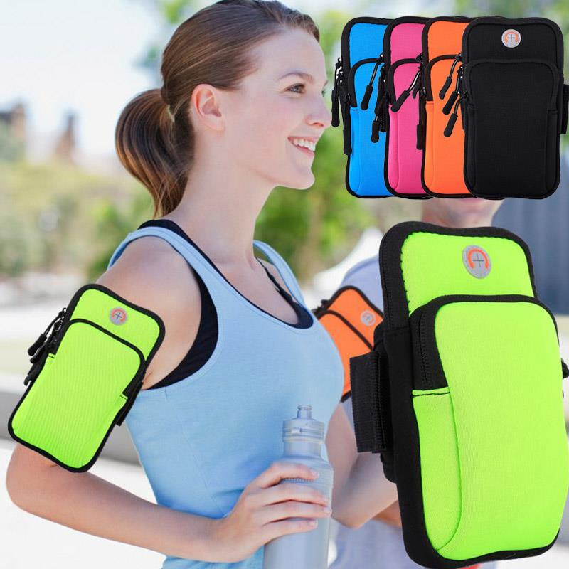 Fitness Arm Bag Pockets Sport Phone Case Bag Arm Package Running Mountaineering Jogging Exercise Nylon Wrist Wrap Arm Band Gym