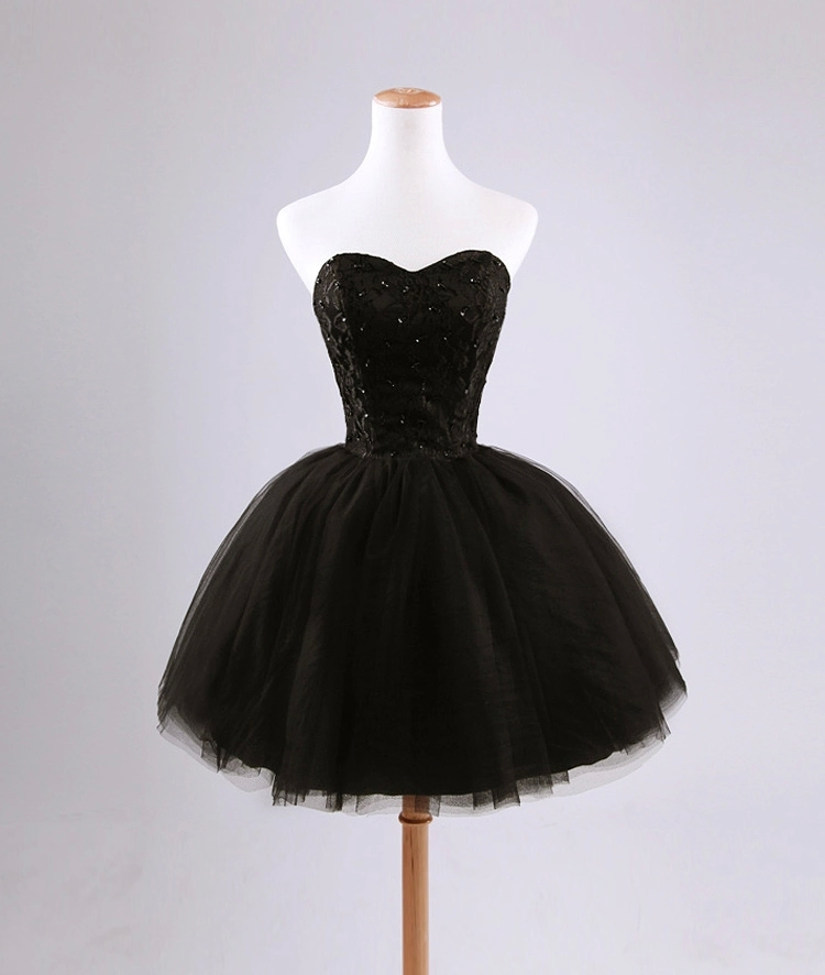 Korean Lace   Evening     Dress   Short Bandage Short Band Dinner Party   Dress   Tube Top Black Lace Sexy Formal   Dresses     Evening   Gown