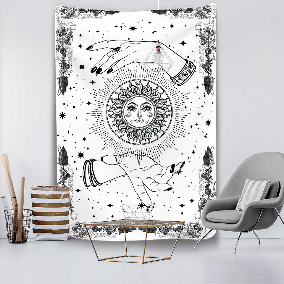 Kartu Tarot Permadani Gantung Dinding Astrologi Ramalan Seprai Pantai Matwitchcraft Mandalay Hippie Mandala Brujeria