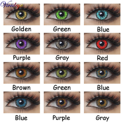 Colorful Contact Lenses For Russian Girl Beautiful Pupil Halloween Cosplay Anime Eyes Naruto Red Blue Green Color Lens 2pcs/Pair