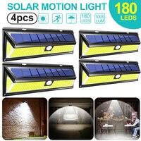 180 LED 태양 전원 모션 센서 빛 COB 3 모드 야외 정원 마당 방수 에너지 절약 통로 태양 벽 램프