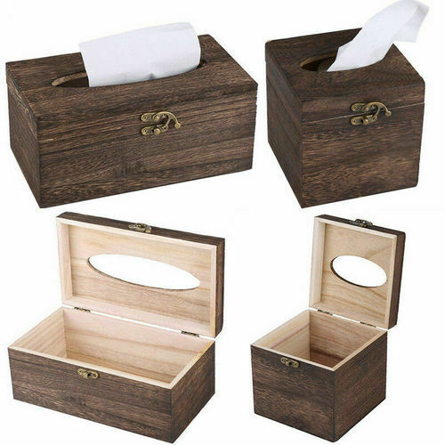 Retro Wooden Tissue Paper Box Toilet Case Cover Case Napkin Holder Bar Home Decor Christmas Decorations For Hom