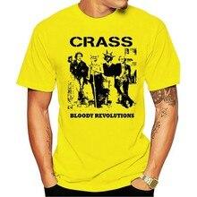 2021 revoluções sangrentas crass 80s punk vintage rock legalconfortável moda 100% algodão camiseta