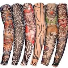 Summer Outdoor Cycling MTB Sunscreen 3D Print Tattoo Sleeve Man Mangas Para Brazo UV Protection Women's Arm Sleeves Arm Warmers