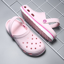 Sandals Loafers Rubber Gardening-Clogs Pink Women Slip-On-Hole Beach Summer for Outdoor