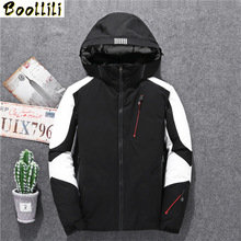 Men #8217 s Brand Down Jacket Fashion Personality Zipper Pocket 2020 Winter New Youth Clothing Thick Warm Hooded Loose Down Jacket cheap REGULAR 8019 Casual Full Pockets Epaulet Zippers Spliced PATTERN Thick (Winter) Broadcloth Polyester Acetate White duck down