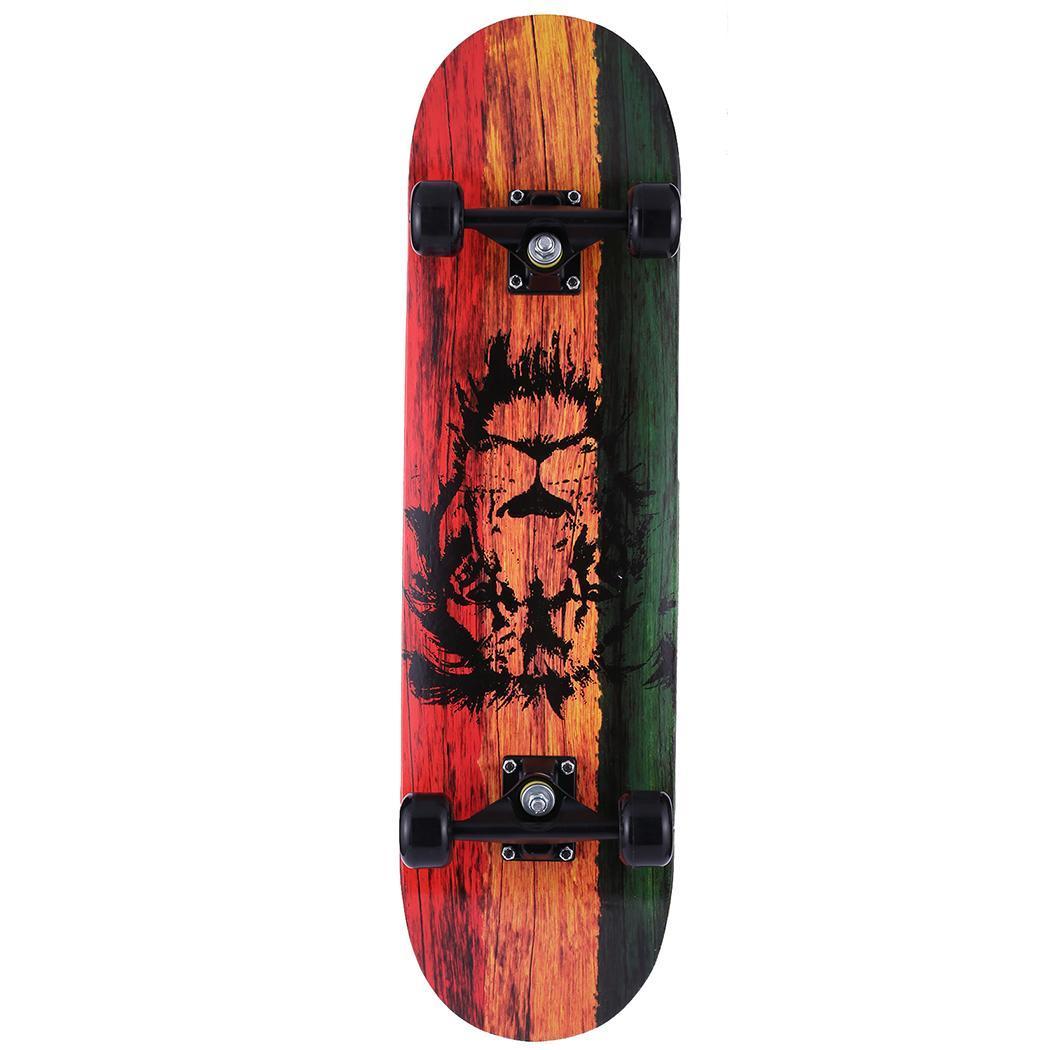 Complete Skate Boards Adult Teens Girls Boys Maple Skateboard for Beginners Aluminum Alloy Anti-Slip Surface Design 4