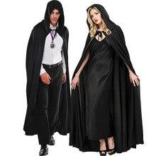 Костюмы для взрослых-костюмы на Хэллоуин для мужчин и женщин, накидка вампира с капюшоном