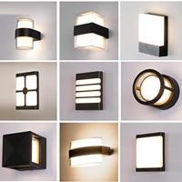Nordic Stilvolle Wasserdichte Wand Licht LED 8W 12W 18W Indoor Outdoor Decor Beleuchtung Leuchte Lampe Für Schlafzimmer treppen Villa
