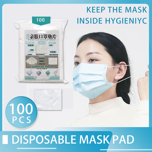 100pcs Mouth Caps Mask Virus Face Mask Filter Gasket Mask Anti Pollution Gasket Anti Pollut Anti Flu Cotton Mask Disposable Pad